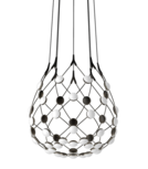 Mesh D86 Ø55 cm met 1 mtr kabel hanglamp Luceplan