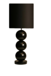 Milano 3 bol zwart tafellamp stout
