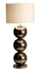Milano 3 bol nikkel glans tafellamp Stout