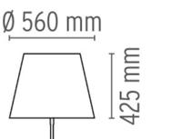 Diffuser gun lounge vloerlamp