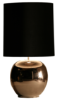 Milano bol groot nikkel glans tafellamp Stout