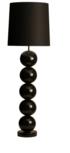 Milano 5 bol zwart vloerlamp Stout