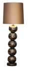 Milano 5 bol brons glans vloerlamp Stout