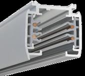 Powergear 3 fase spanningsrail 3 meter - 3 fase rail