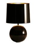 Milano bol klein zwart tafellamp Stout