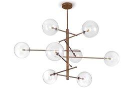 Estro 8 lichts plafondlamp Metal Lux