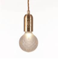 Frosted Crystal Bulb & Pendant hanglamp Lee Broom
