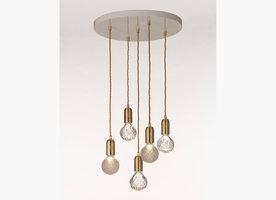 Clear Crystal Bulb Chandelier hanglamp Lee Broom