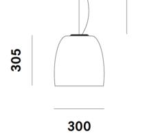 Notte s3 - losse kap glas - Prandina