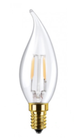 Led candle flame clear e14 3.5w lichtbron Segula