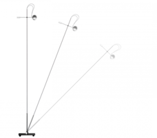 Floor light 457a/ch chroom glossy vloerlamp Absolut Lighting