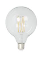 Led filament globe clear g125 e27 lichtbron Calex