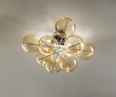 Atom 34 plafondlamp Metal Lux