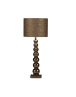 Milano 7 bol golden brons glans tafellamp Stout
