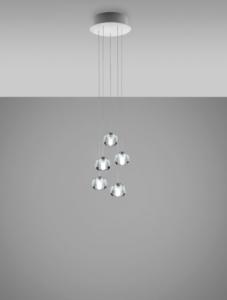 Multispot beluga F32 5 lichts hanglamp Fabbian