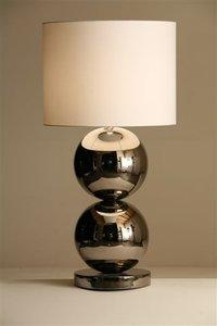 Stout verlichting milano 2 bol glans nikkel tafellamp for Mooie tafellampen