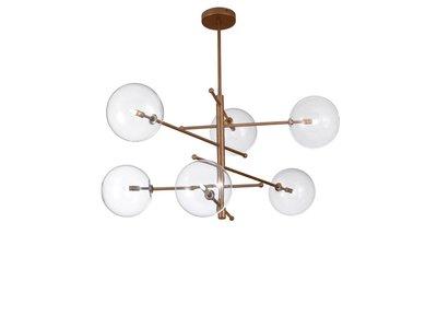 Estro 6 lichts plafondlamp Metal Lux