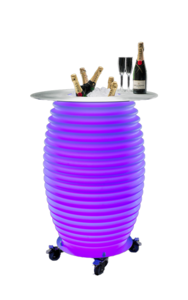 The.Bar Table Bluetooth Speaker Lamp & Wijnkoeler & Statafel Nikki Amsterdam