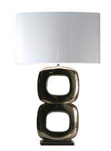 Maxime nikkel glans 2 tafellamp Stout