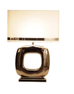 Maxime nikkel glans 1 tafellamp Stout