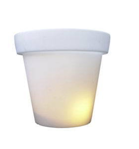 pot 100 cm bloempot met licht buitenlamp bloomholland