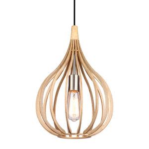 Drops hout hanglamp el light mooi verlichting for Design lamp hout