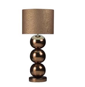 Milano 3 bol golden brons glans tafellamp Stout
